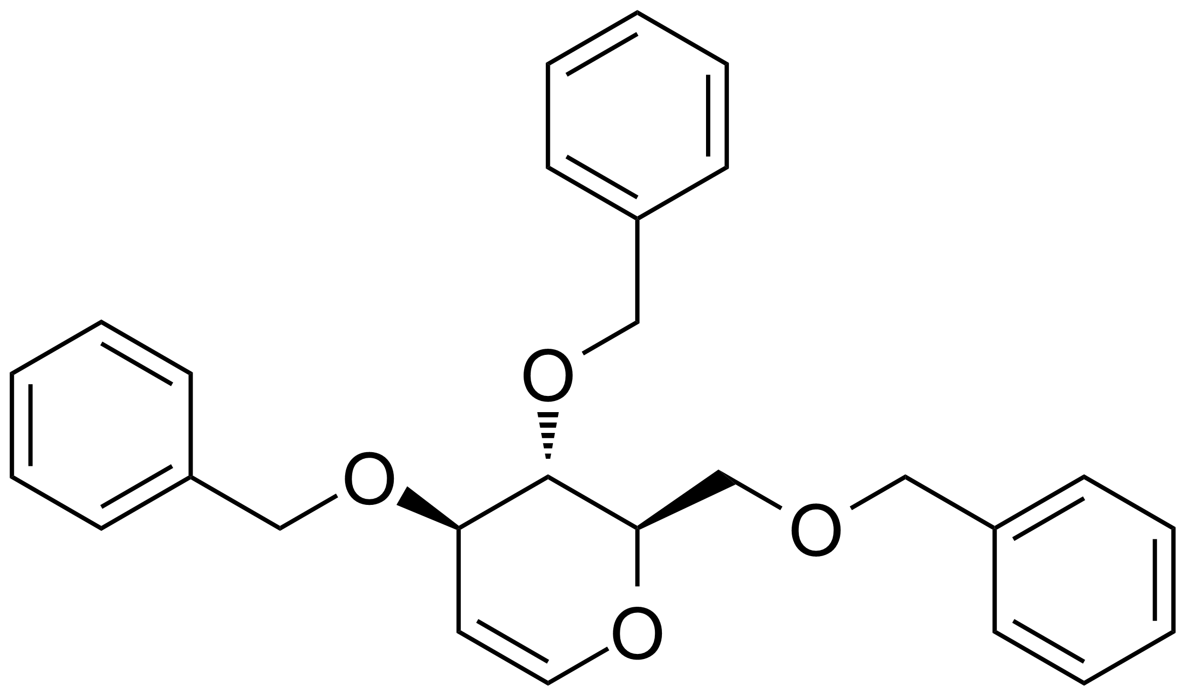 Structure of 1,5-Anhydro-3,4,6-tri-O-benzyl-2-deoxy-D-arabinohex-1-enitol