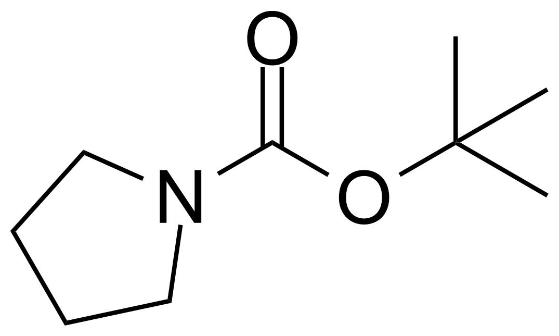 Structure of N-Boc-pyrrolidine