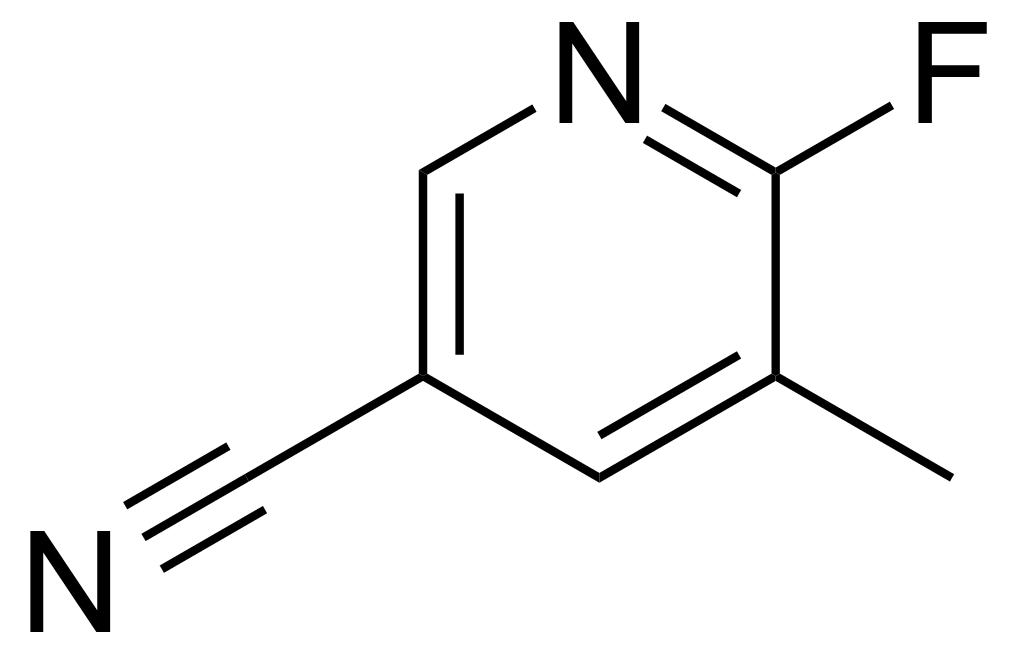 Structure of 5-Cyano-2-fluoro-3-methylpyridine