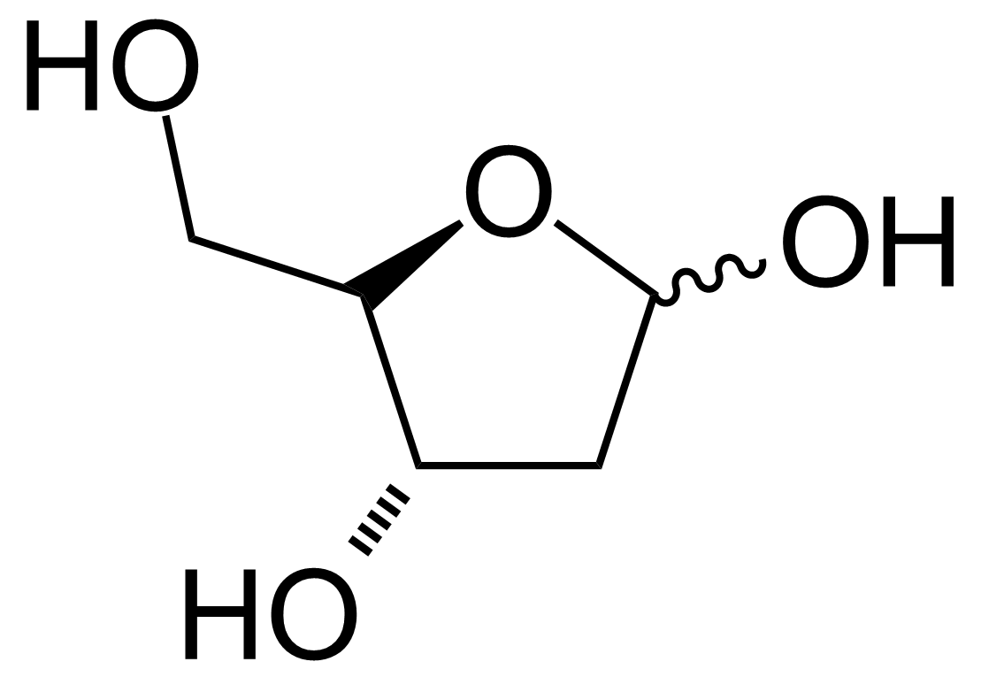Structure of 2-Deoxy-D-ribose
