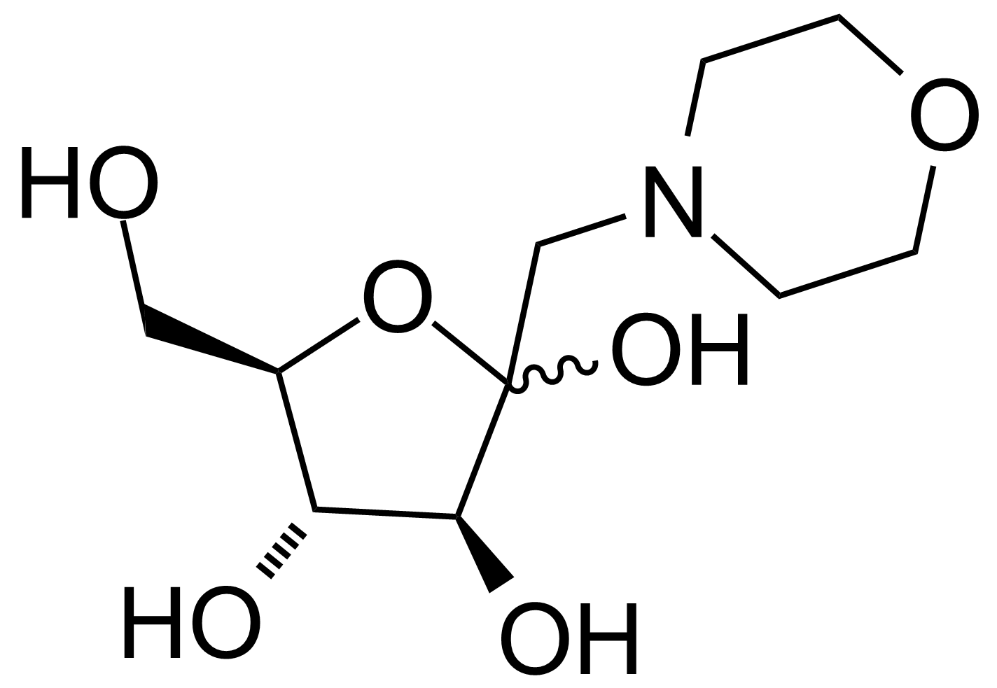 Structure of 1-Deoxy-1-morpholino-D-fructose