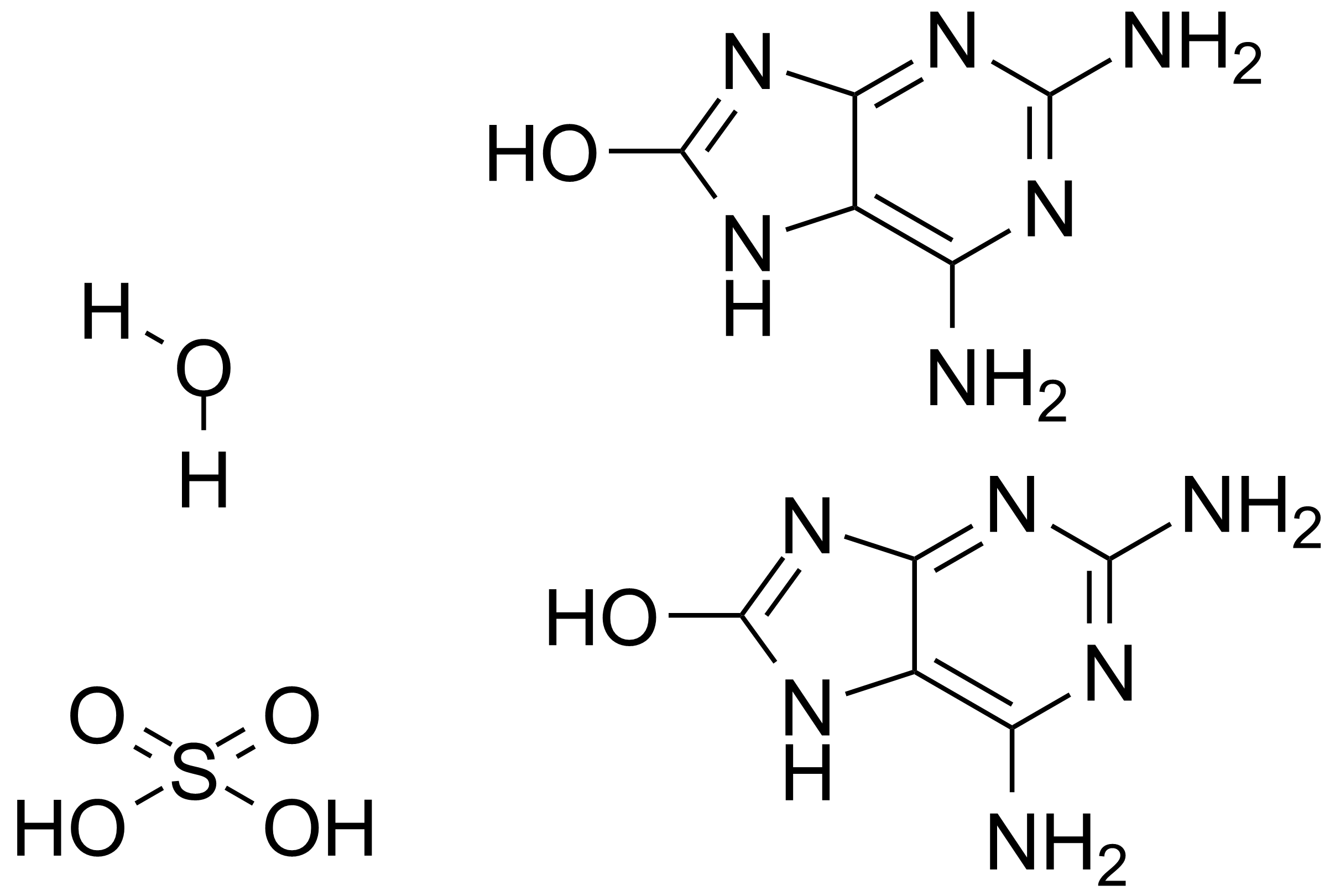 Structure of 2,6-Diamino-8-purinol hemisulfate monohydrate