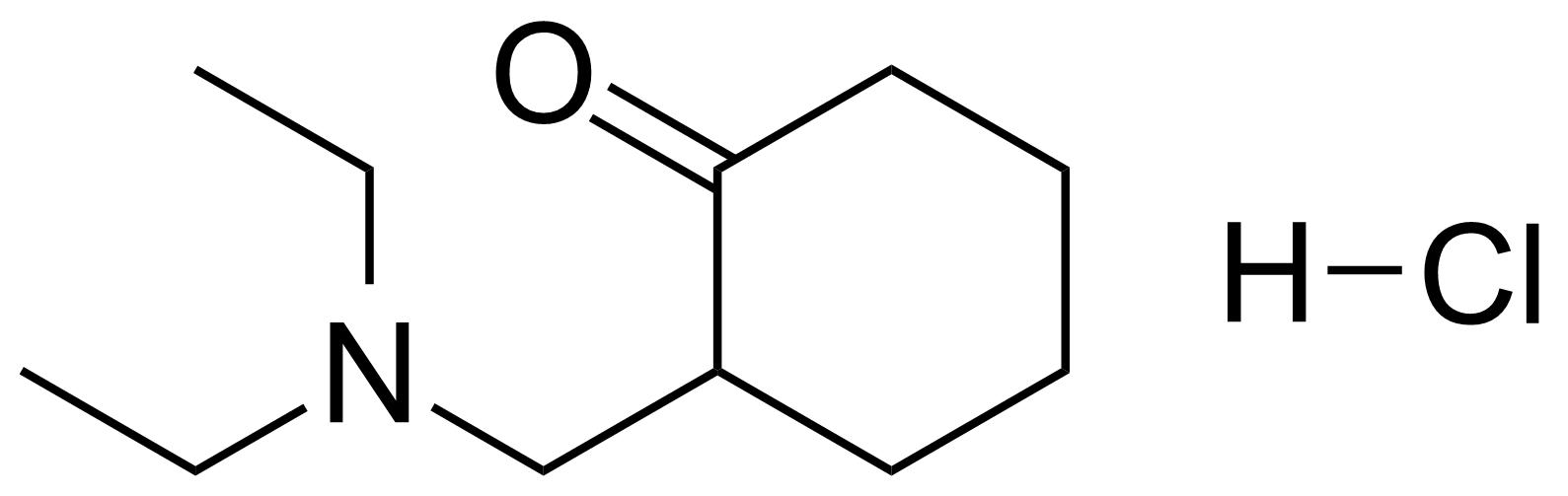 Structure of 2-[(Diethylamino)methyl]cyclohexanone hydrochloride
