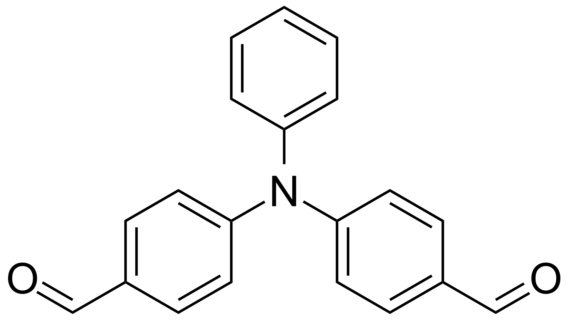 Structure of Bis(4-formylphenyl)phenylamine