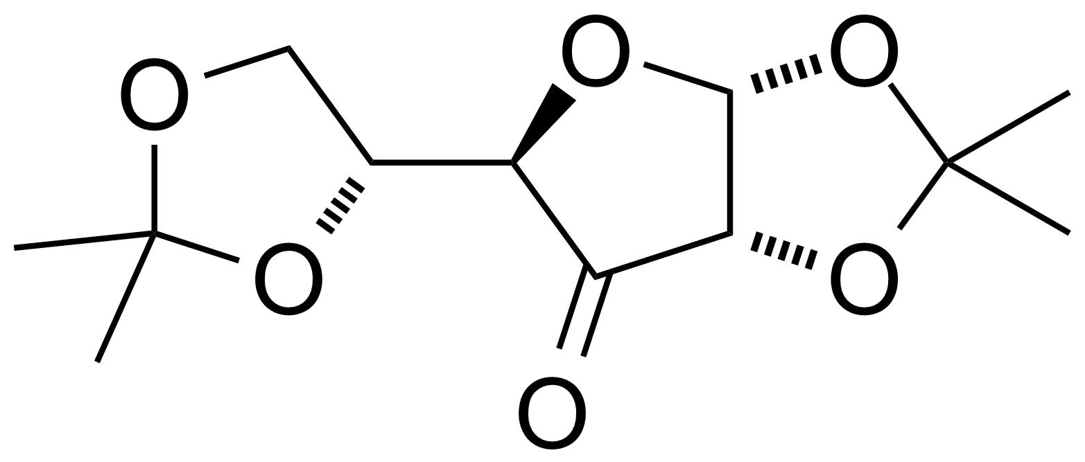 Structure of 1,2-5,6-Di-O-isopropylidene-a-D-ribo-hexulofuranos-3-ulose