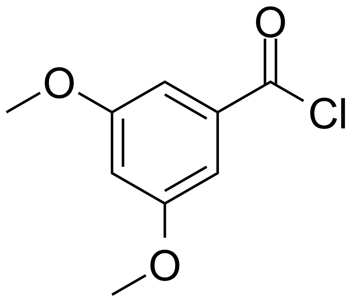 Structure of 3,5-Dimethoxybenzoyl chloride