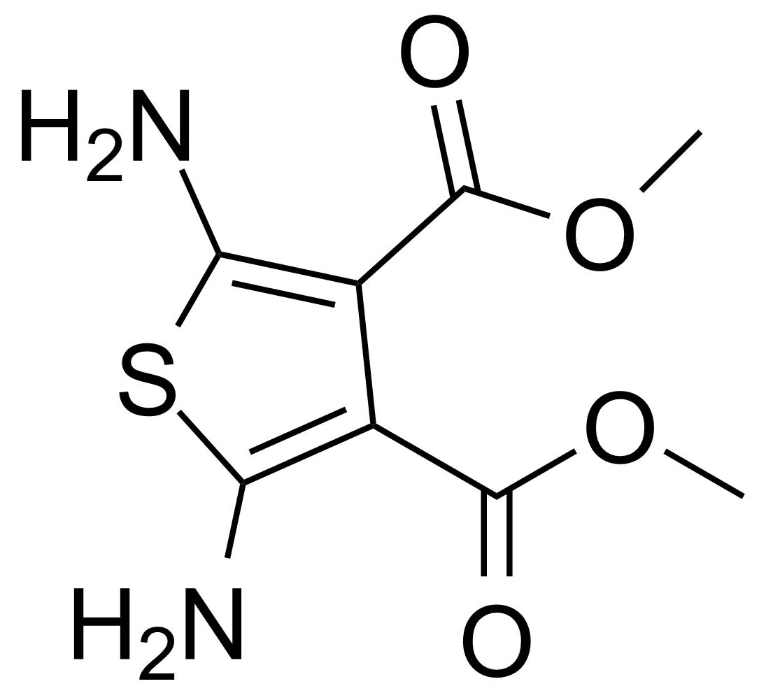 Structure of Dimethyl-2,5-diaminothiophene-3,4-dicarboxylate