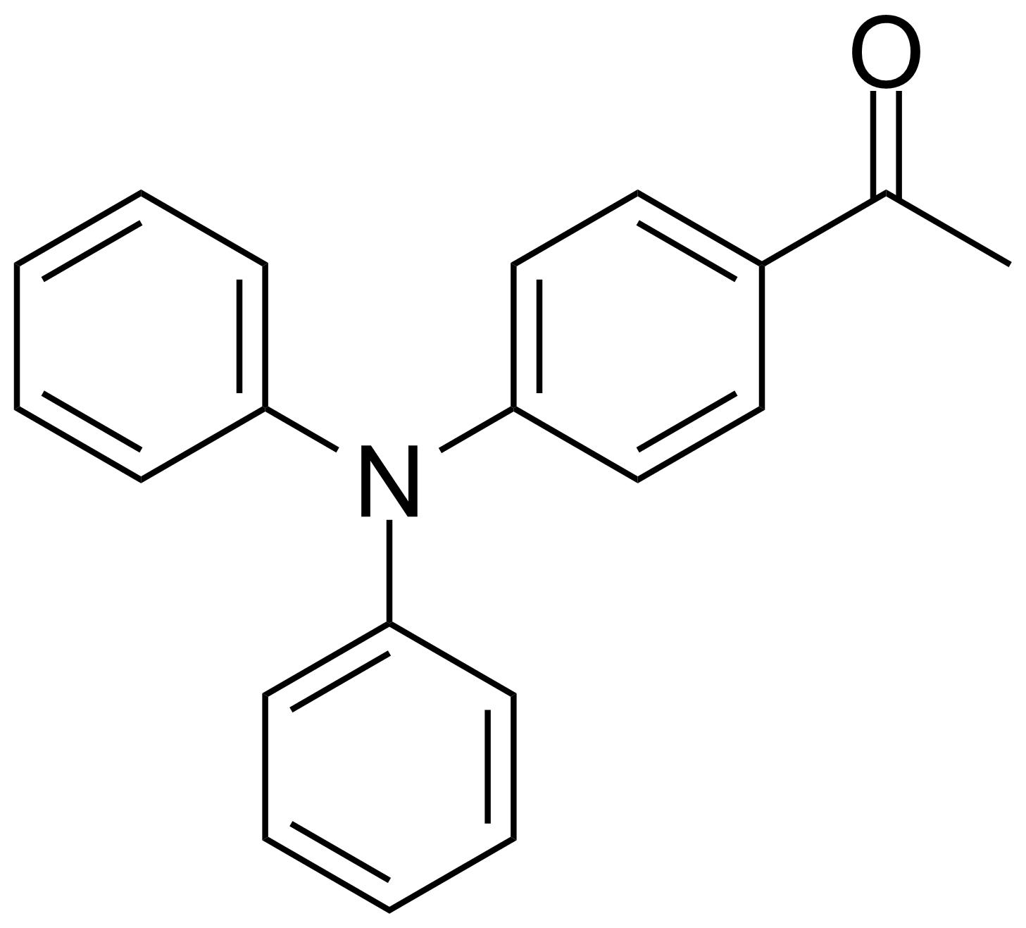 Structure of 1-(4-(Diphenylamino)phenyl)ethanone