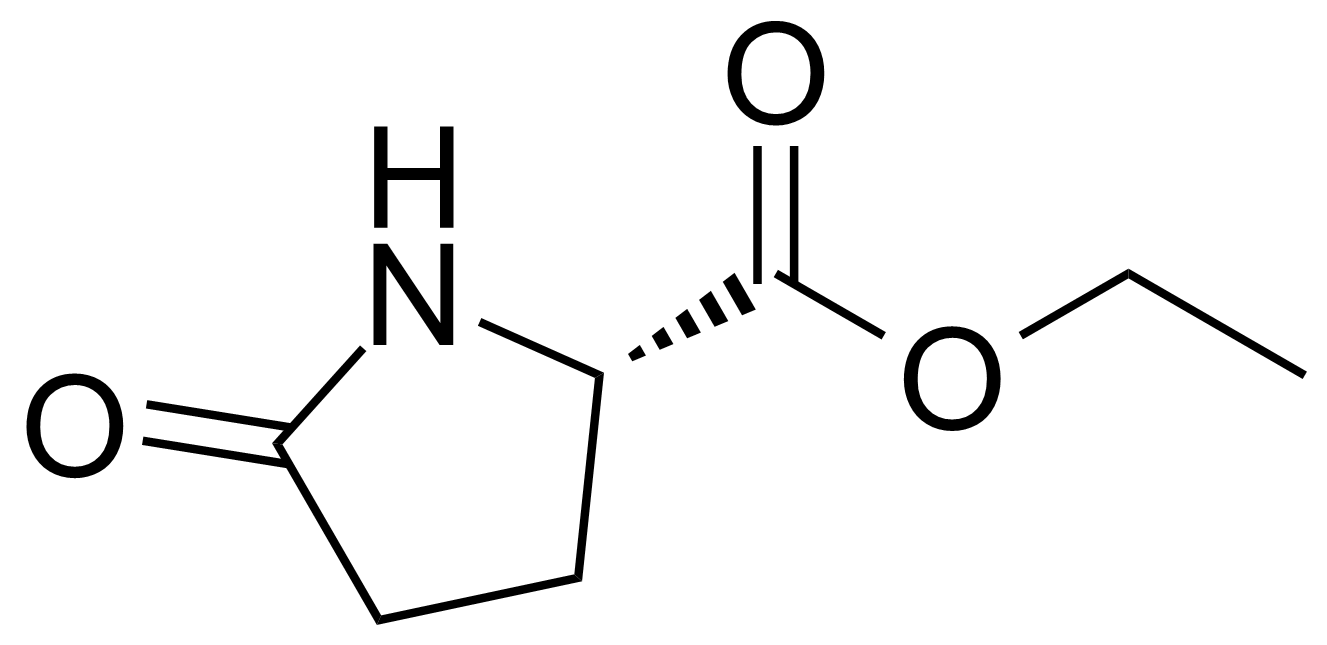 Structure of Ethyl (S)-(+)-2-pyrrolidone-5-carboxylate