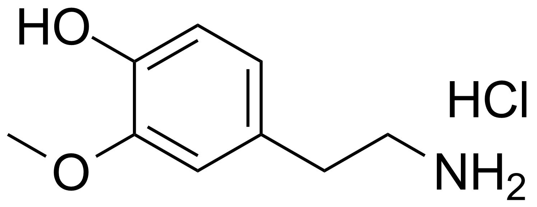 Structure of 2-(4-Hydroxy-3-methoxyphenyl)-ethylamine hydrochloride