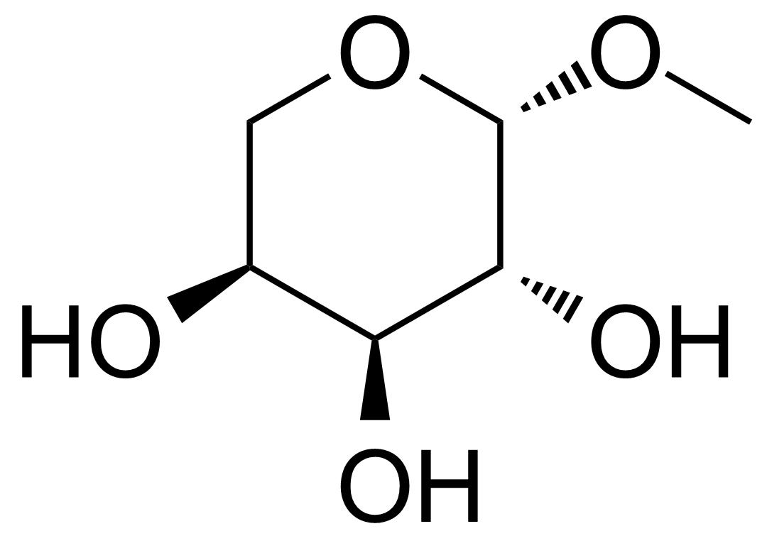 Structure of Methyl-beta-L-arabinopyranoside