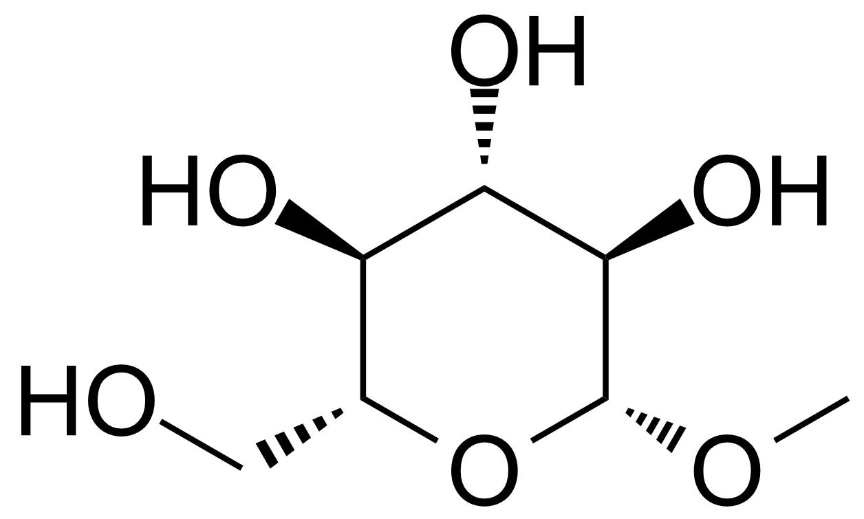 Structure of Methyl-b-D-glucopyranoside hemihydrate
