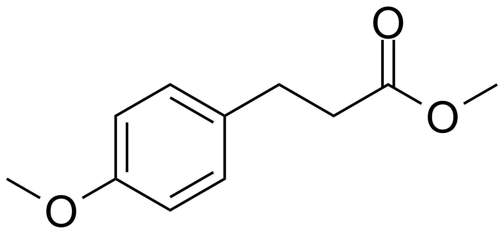 Structure of Methyl 3-(4-methoxyphenyl)propionate