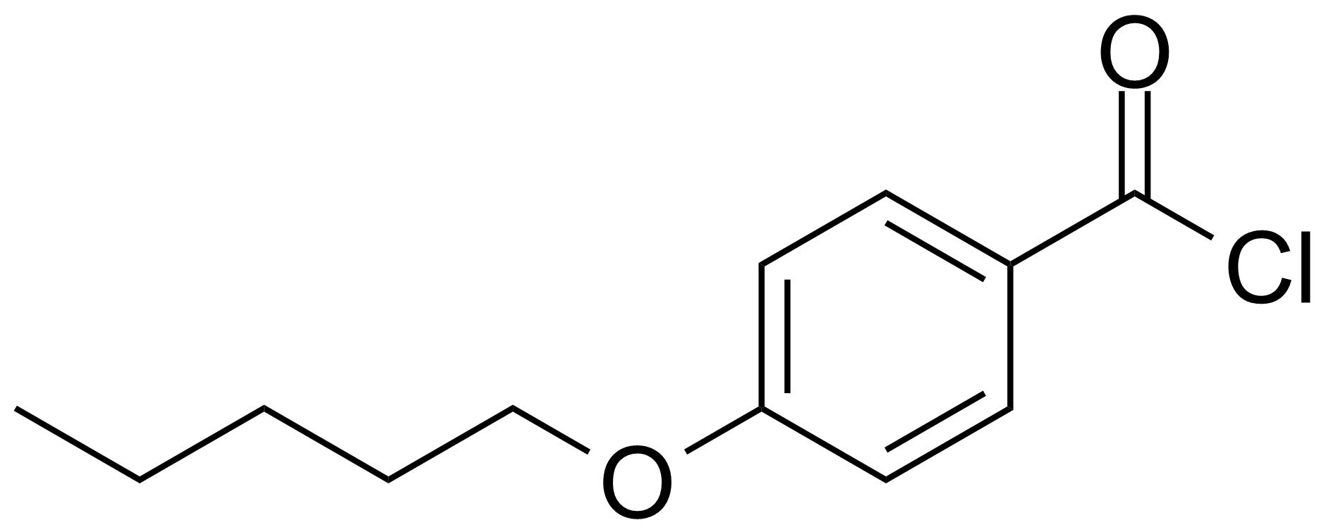 Structure of 4-n-Pentyloxybenzoyl chloride