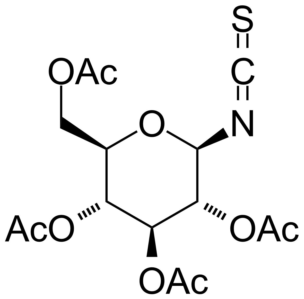 Structure of 2,3,4,6-Tetra-O-acetyl-b-D-glucopyranosyl isothiocyanate
