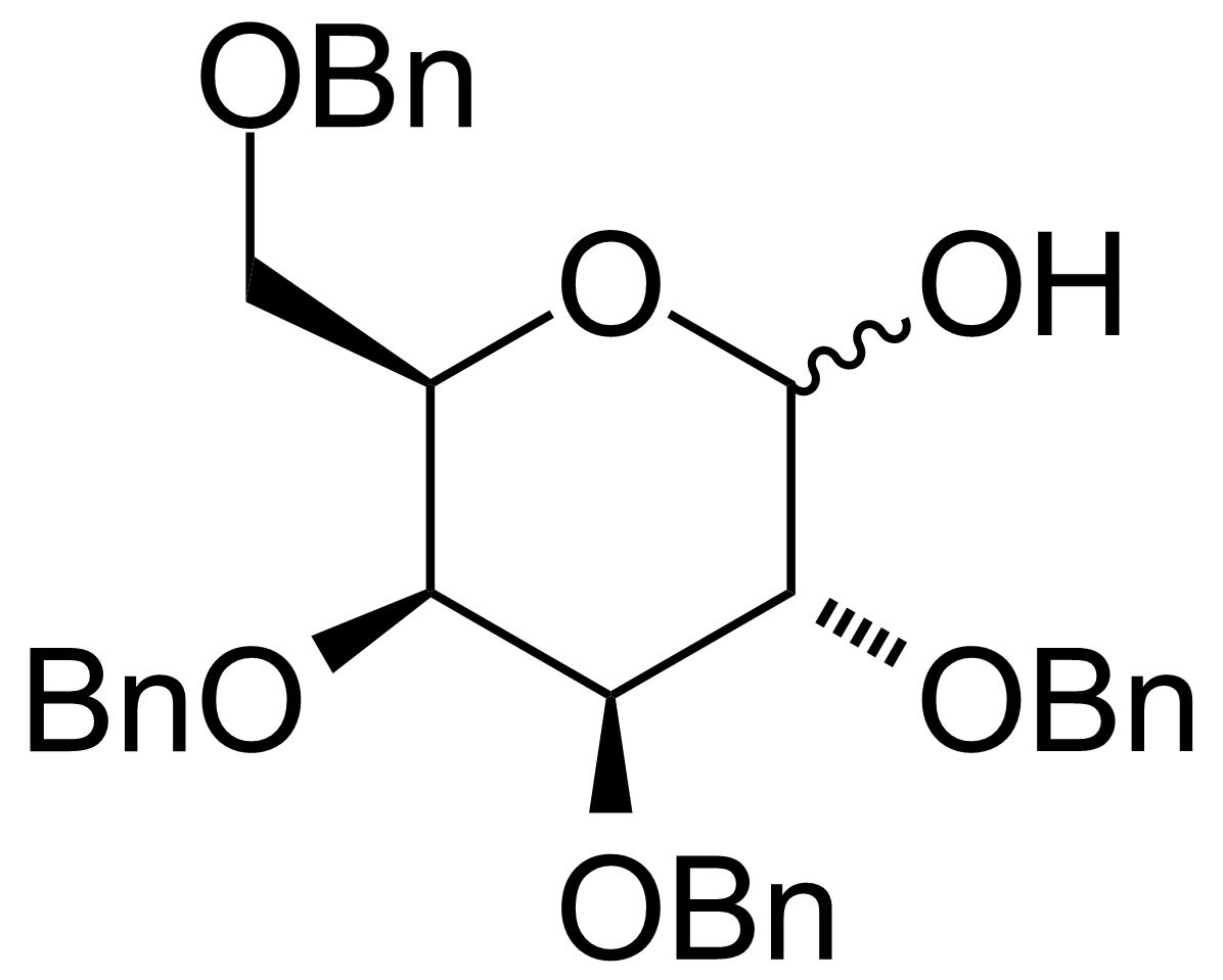 Structure of 2,3,4,6-Tetra-O-benzyl-D-galactopyranose