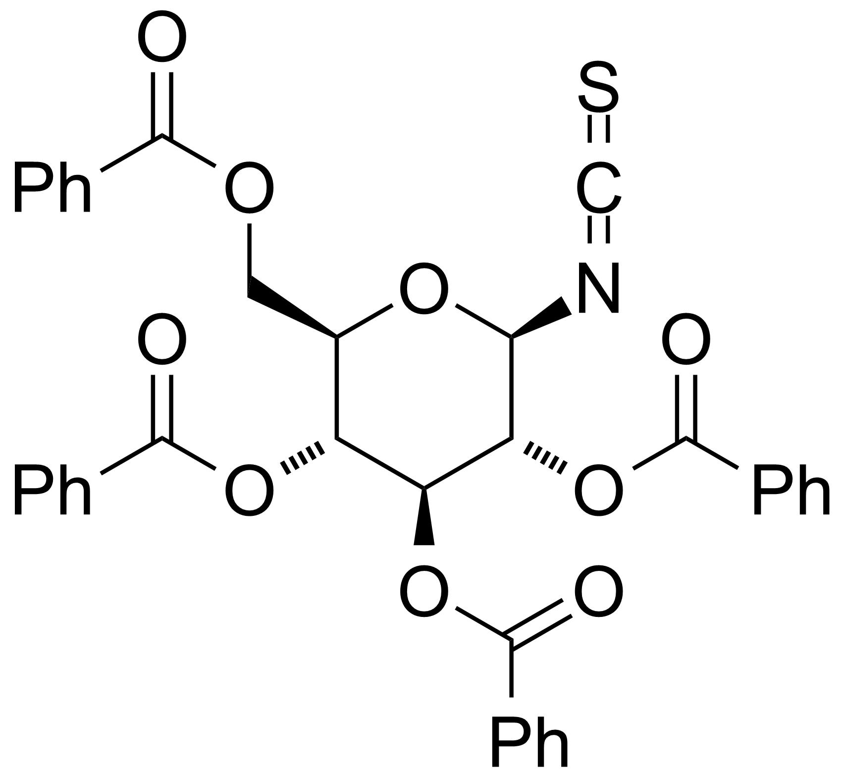 Structure of 2,3,4,6-Tetra-O-benzoyl-b-D-glucopyranosyl isothiocyanate