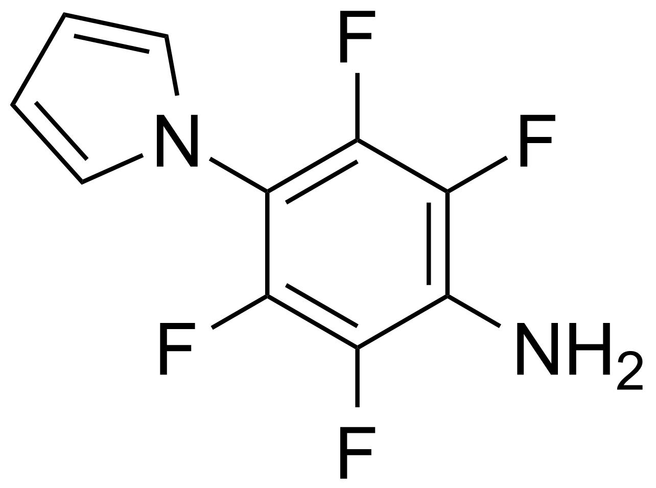 Structure of 2,3,5,6-Tetrafluoro-4-(1H-pyrrol-1-yl)aniline