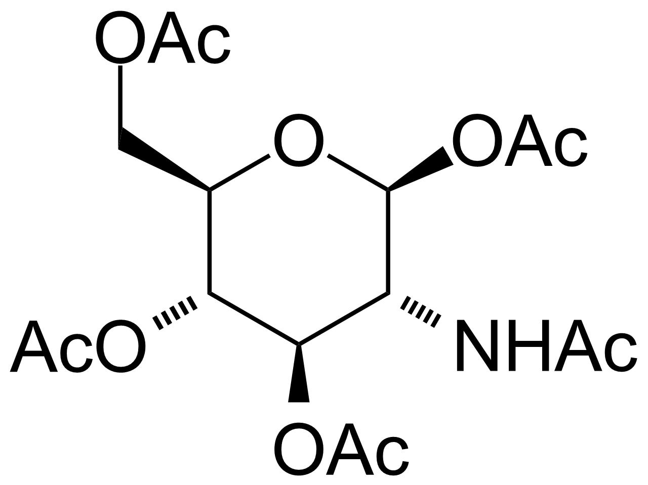 Structure of 2-Acetamido-1,3,4,6-tetra-O-acetyl-2-deoxy-beta-D-glucopyranose