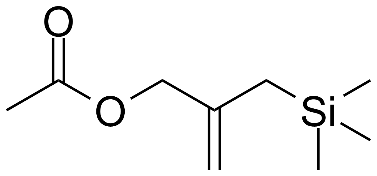 Structure of 2-(Trimethylsilylmethyl)allyl acetate