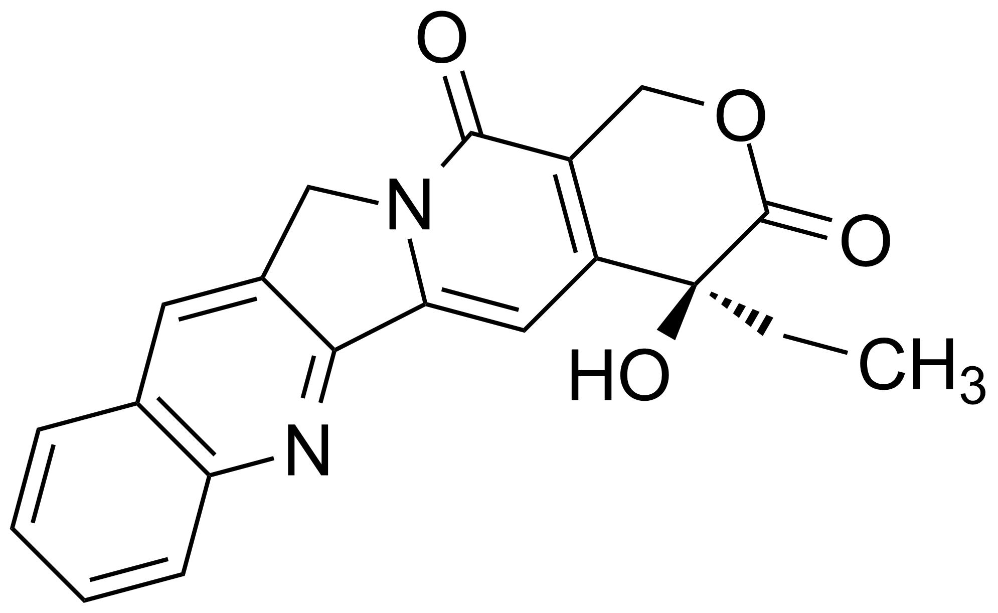 Structure of (+)-Camptothecin