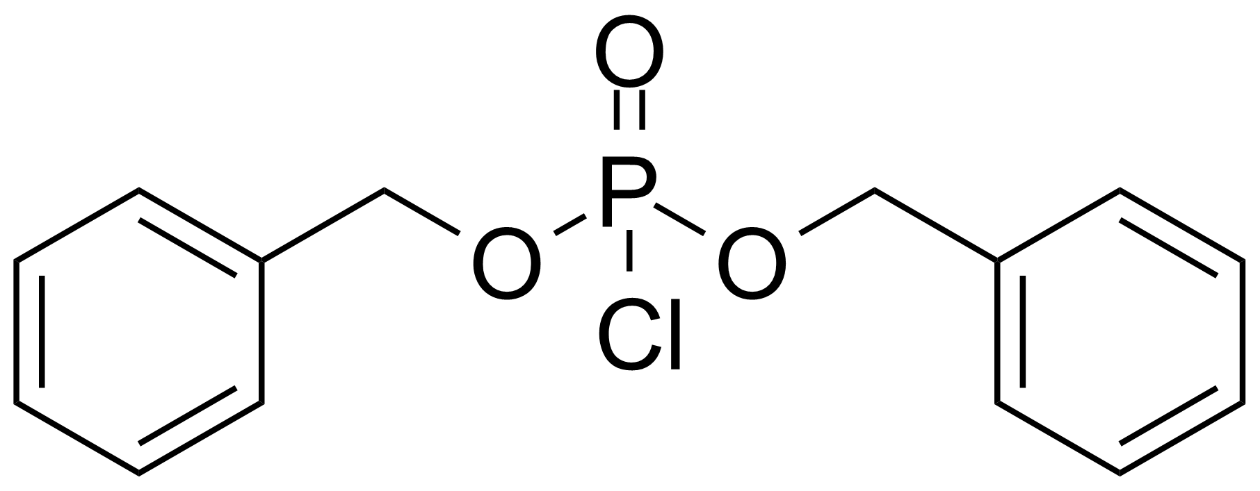 Structure of Dibenzyl chlorophosphate