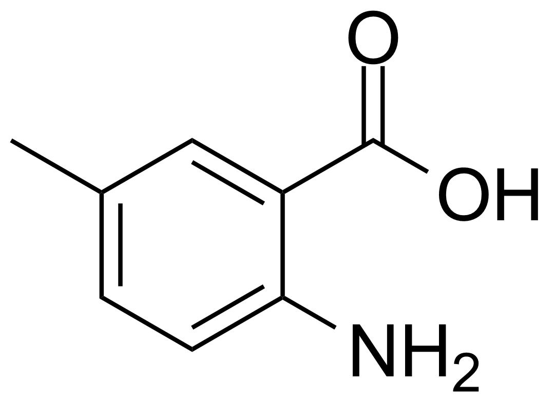 Structure of 2-Amino-5-methylbenzoic acid