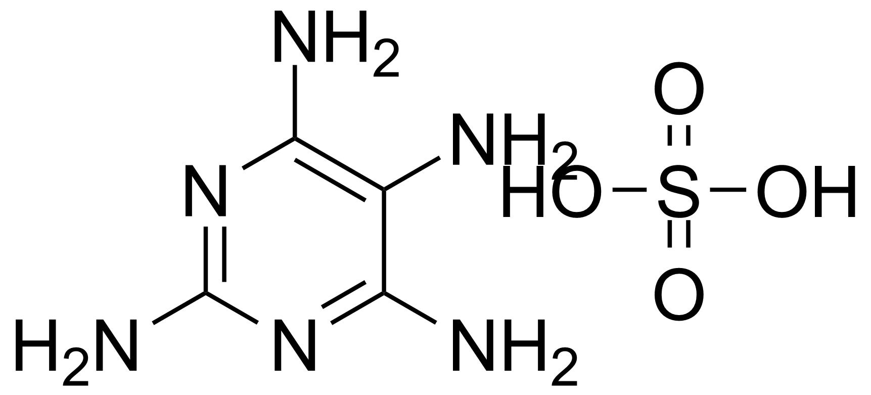 Structure of 2,4,5,6-Tetraaminopyrimidine sulfate