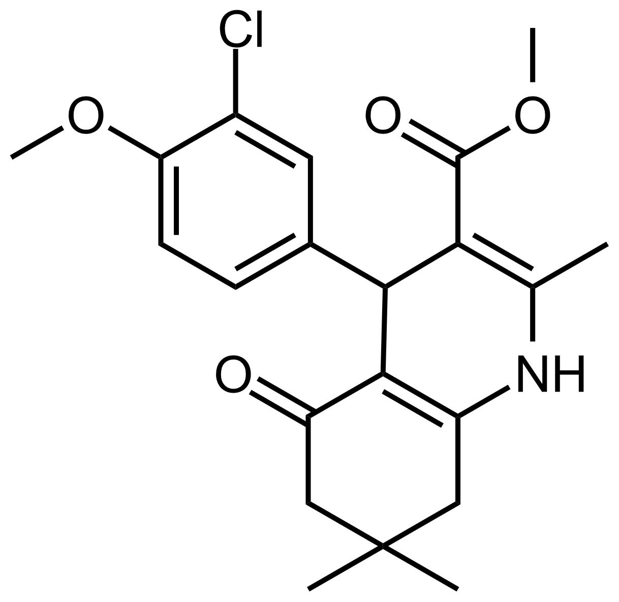 Structure of Methyl 4-(3-chloro-4-methoxyphenyl)-2,7,7-trimethyl-5-oxo-1,4,5,6,7,8-hexahydroquinoline-3-carboxylate