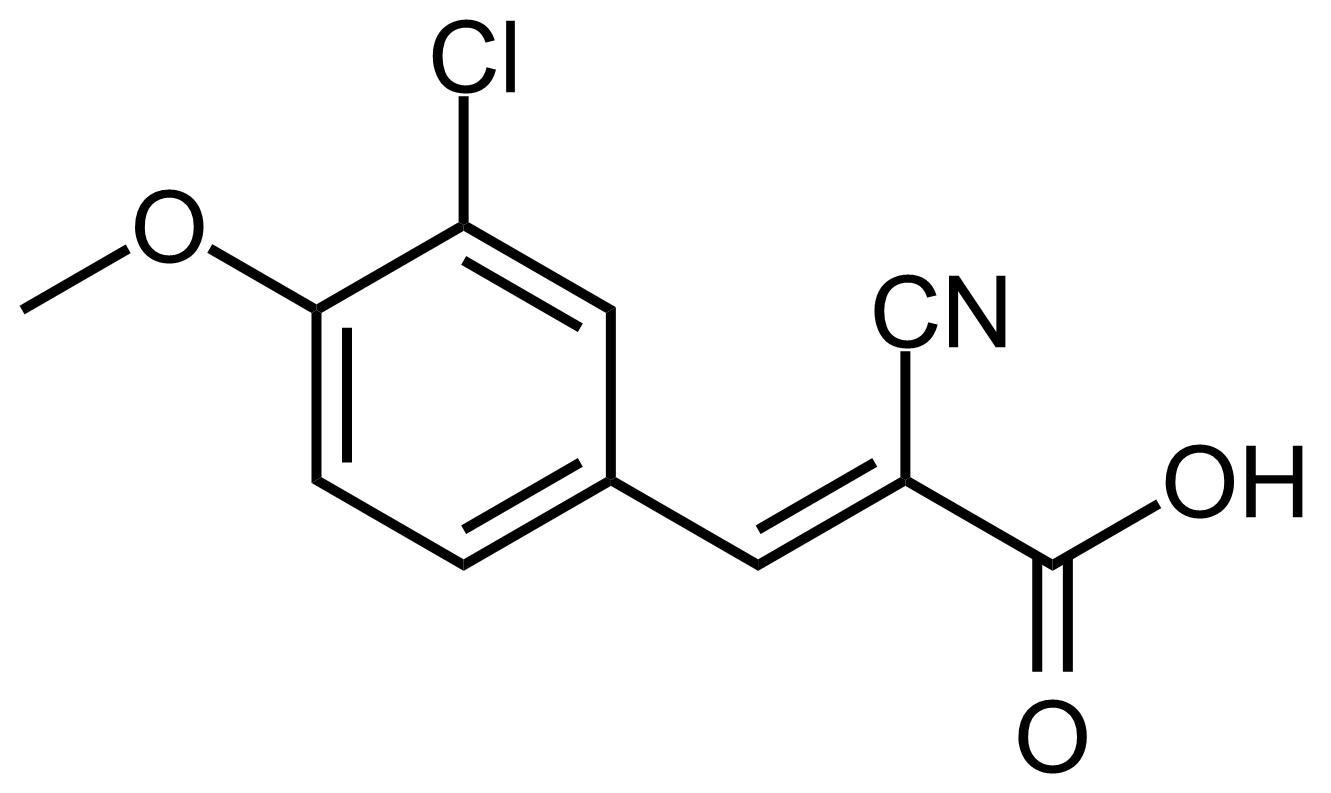 Structure of (E)-3-(3-Chloro-4-methoxyphenyl)-2-cyanoacrylic acid