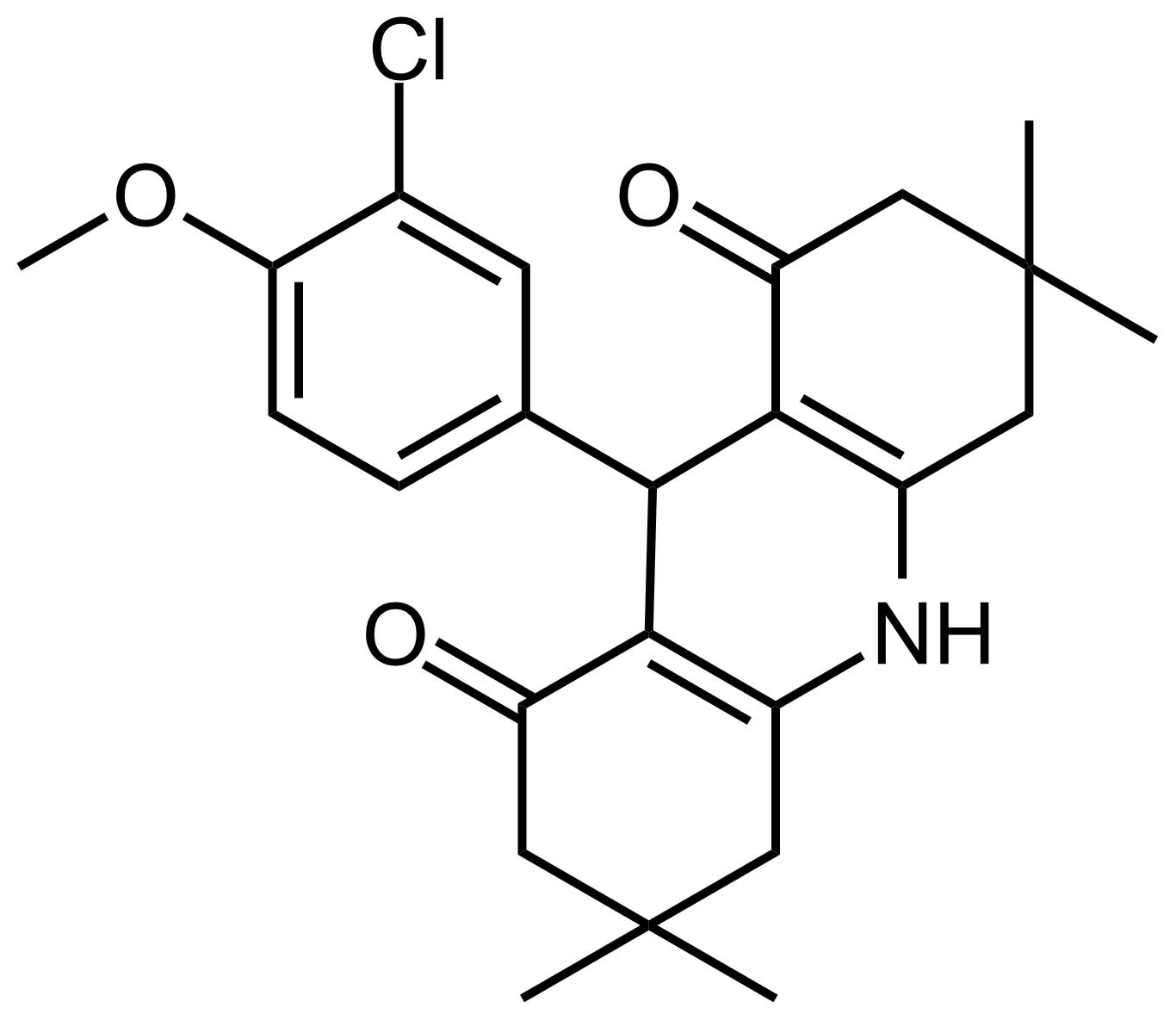 Structure of 9-(3-Chloro-4-methoxyphenyl)-3,3,6,6-tetramethyl-3,4,6,7,9,10-hexahydroacridine-1,8(2H,5H)-dione