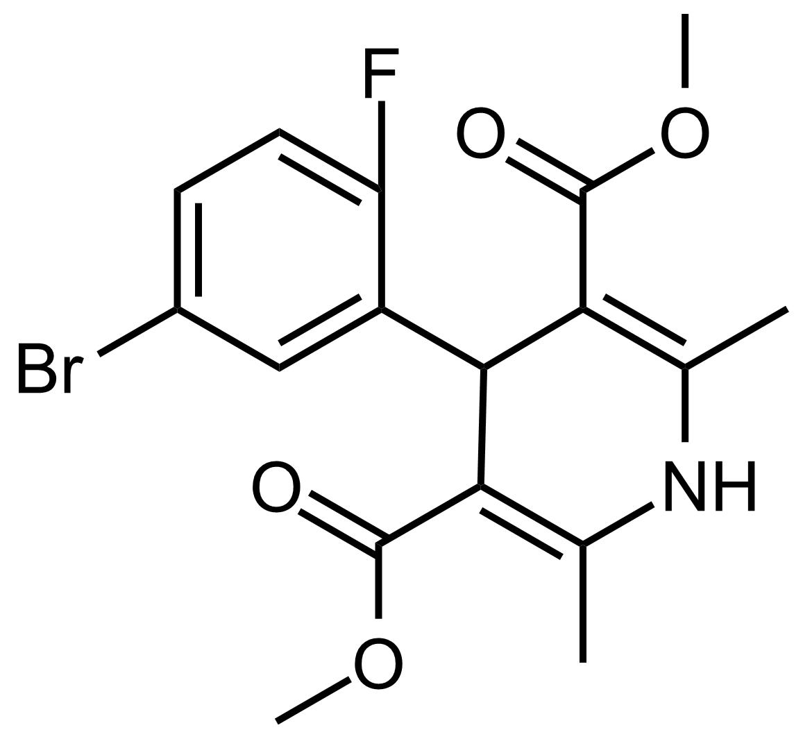Structure of Dimethyl 4-(5-bromo-2-fluorophenyl)-2,6-dimethyl-1,4-dihydropyridine-3,5-dicarboxylate