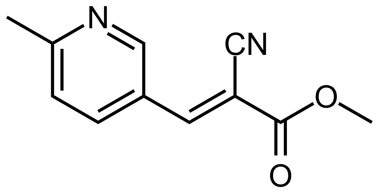 Structure of (E)-Methyl 2-cyano-3-(6-methylpyridin-3-yl)acrylate