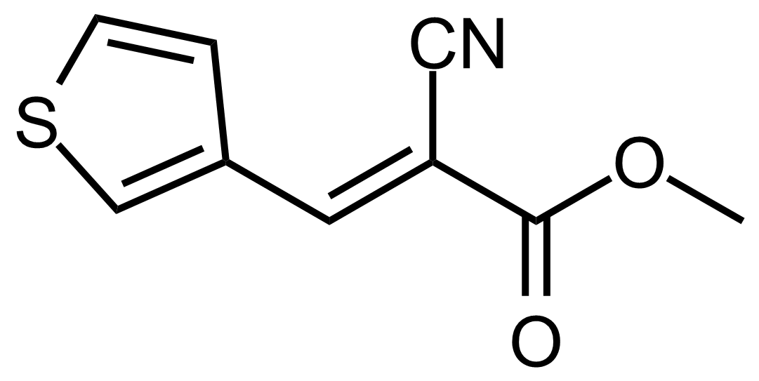 Structure of (E)-Methyl 2-cyano-3-(thiophen-3-yl)acrylate