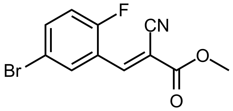 Structure of (E)-Methyl 3-(5-bromo-2-fluorophenyl)-2-cyanoacrylate