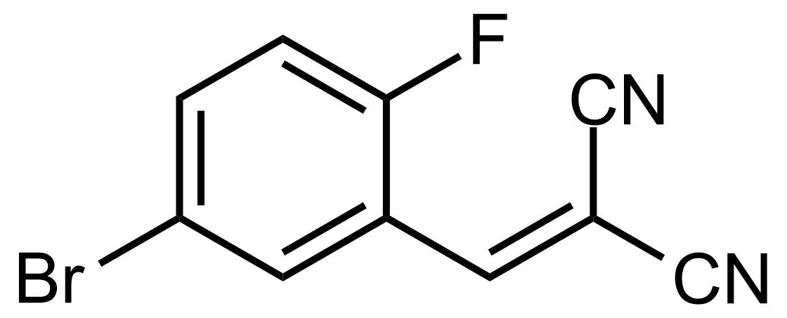 Structure of 2-(5-Bromo-2-fluorobenzylidene)malononitrile
