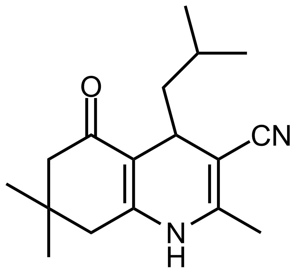 Structure of 4-Isobutyl-2,7,7-trimethyl-5-oxo-1,4,5,6,7,8-hexahydroquinoline-3-carbonitrile