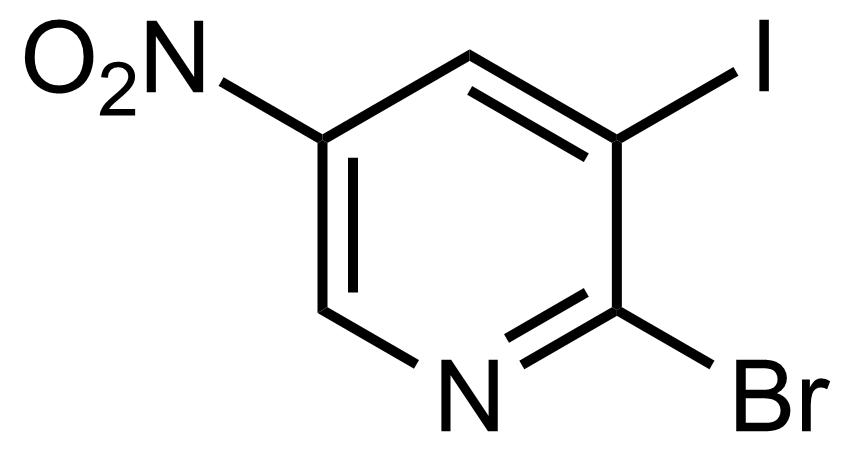 Structure of 2-Bromo-3-iodo-5-nitropyridine