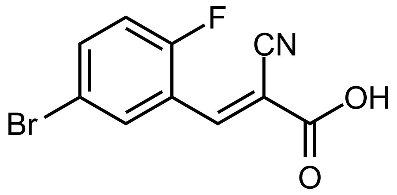 Structure of (E)-3-(5-Bromo-2-fluorophenyl)-2-cyanoacrylic acid