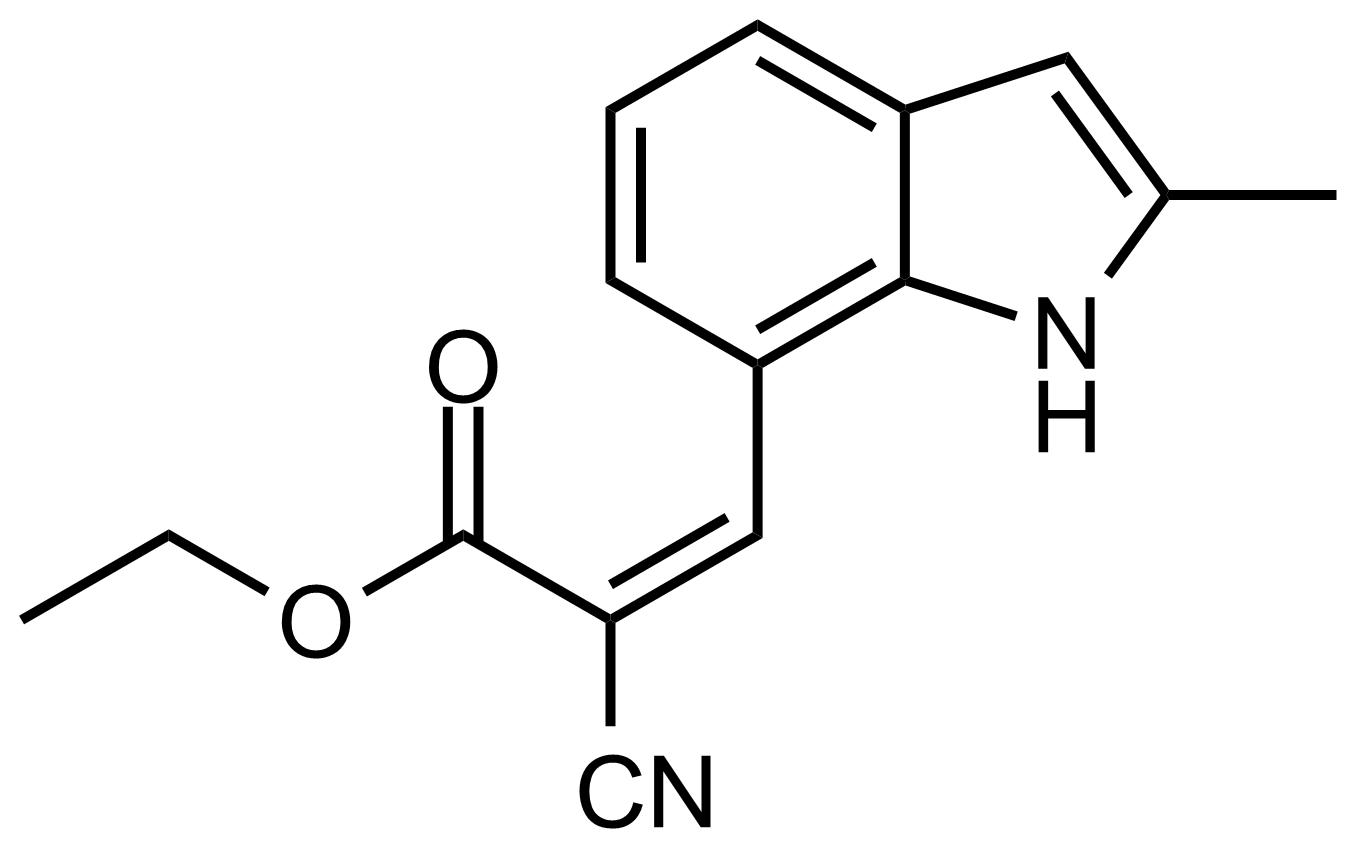 Structure of (Z)-Ethyl 2-cyano-3-(2-methyl-1H-indol-7-yl)acrylate