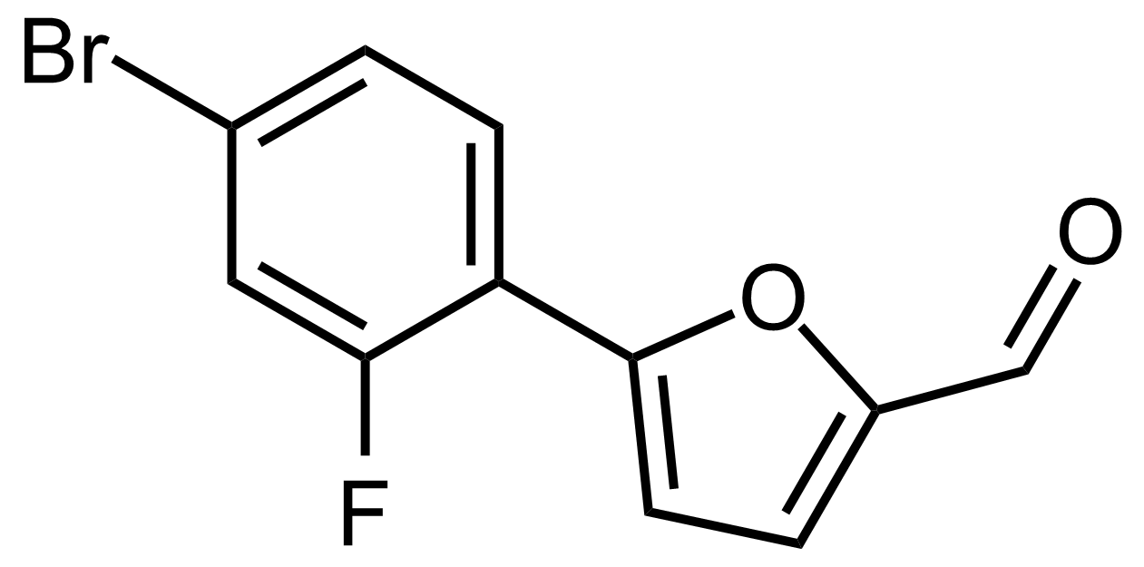 Structure of 5-(4-Bromo-2-fluorophenyl)furan-2-carbaldehyde