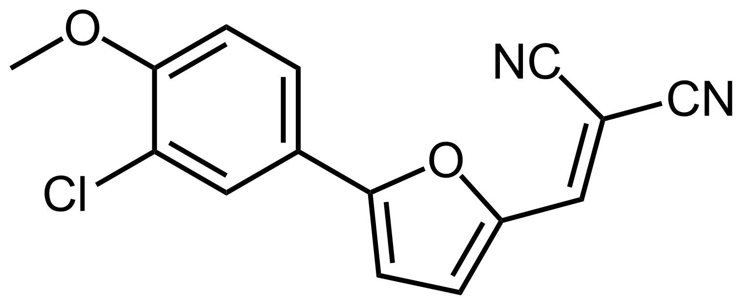 Structure of 2-((5-(3-Chloro-4-methoxyphenyl)furan-2-yl)methylene)malononitrile