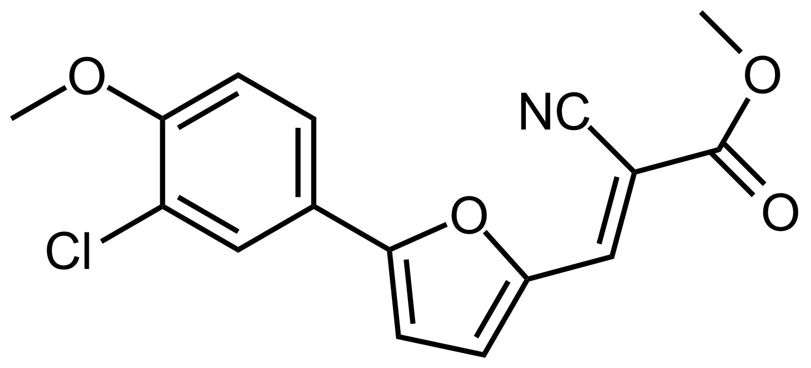 Structure of (E)-Methyl 3-(5-(3-chloro-4-methoxyphenyl)furan-2-yl)-2-cyanoacrylate