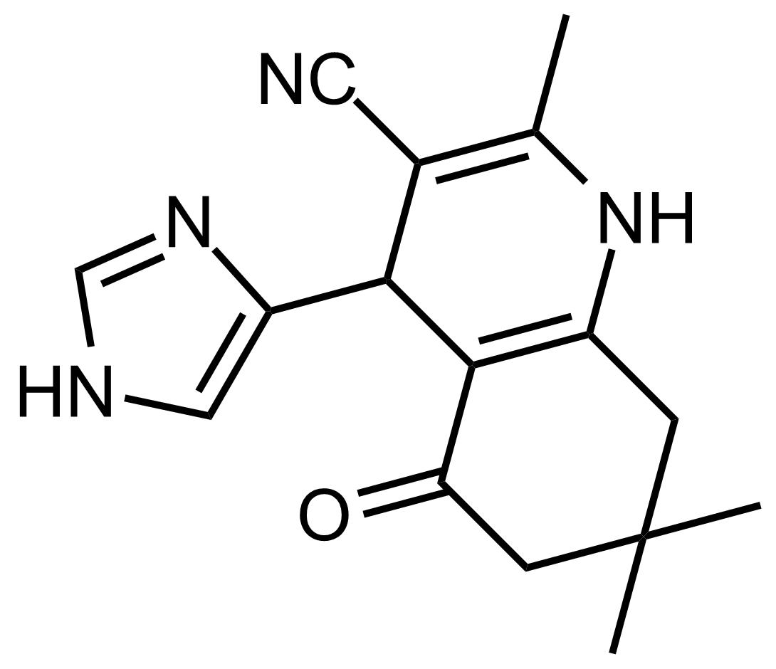 Structure of 4-(1H-Imidazol-4-yl)-2,7,7-trimethyl-5-oxo-1,4,5,6,7,8-hexahydroquinoline-3-carbonitrile