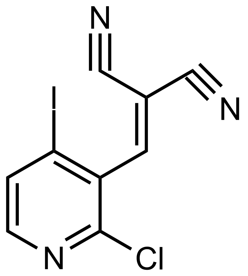 Structure of 2-((2-Chloro-4-iodopyridin-3-yl)methylene)malononitrile