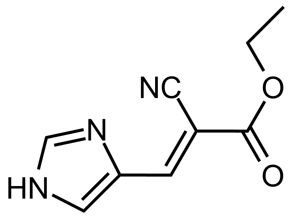 Structure of (E)-Ethyl 2-cyano-3-(1H-imidazol-4-yl)acrylate