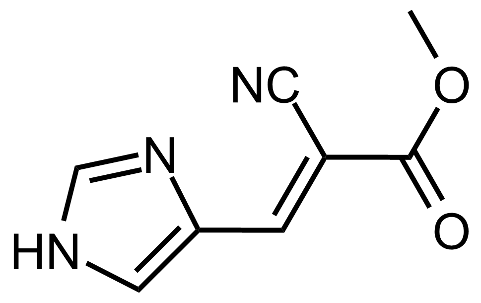 Structure of (E)-Methyl 2-cyano-3-(1H-imidazol-4-yl)acrylate