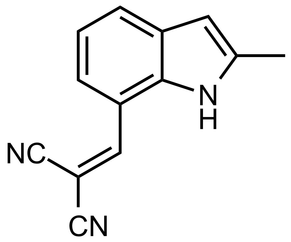 Structure of 2-((2-Methyl-1H-indol-7-yl)methylene)malononitrile