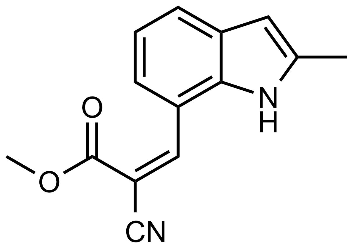Structure of (Z)-Methyl 2-cyano-3-(2-methyl-1H-indol-7-yl)acrylate
