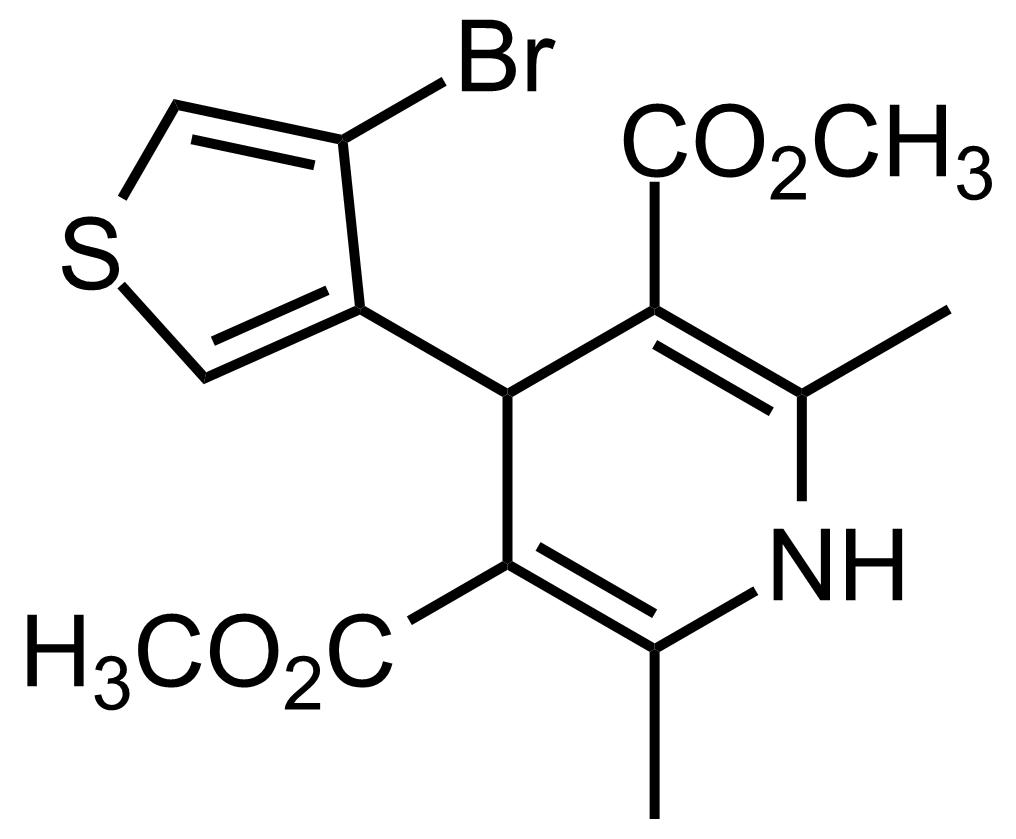 Structure of Dimethyl 4-(4-bromothiophen-3-yl)-2,6-dimethyl-1,4-dihydropyridine-3,5-dicarboxylate